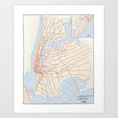 Plans for New York Subway Expansion, 1920 Art Print