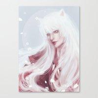 inuyasha Canvas Prints featuring Inuyasha by Pastellish