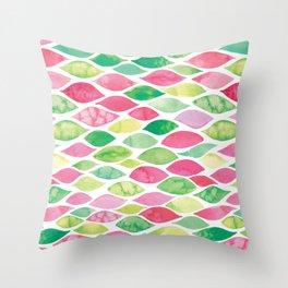 Watercolour Ocean | Watermelon Palette Throw Pillow