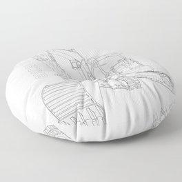 Mini Excavator Floor Pillow