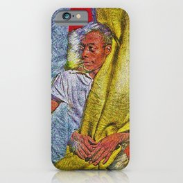 Harlem Renaissance 'James Baldwin' Portrait by Jeanpaul Ferro iPhone Case