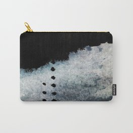 Closer - a black, blue, and white abstract piece Carry-All Pouch