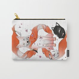Red Kitsune Carry-All Pouch
