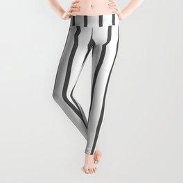 Vertical Dark Grey Stripes Pattern Leggings