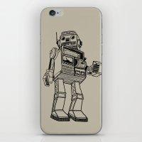 robot iPhone & iPod Skins featuring Robot. by Scott Mckenzie-Lee