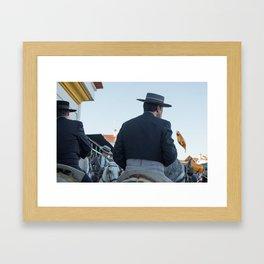 The four horses Framed Art Print