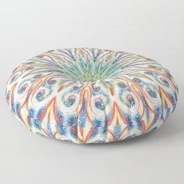 Colorful Center Swirl Floor Pillow