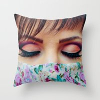 make up Throw Pillows featuring Make Up by Eduard Leasa Photography