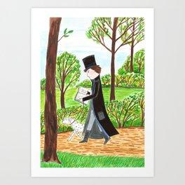 Zauberer im Park Art Print