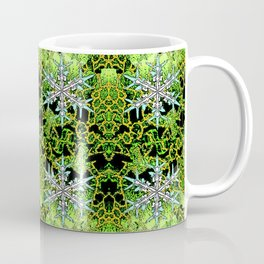 GREEN AURORA WINTER SNOWFLAKES PATTERN Coffee Mug