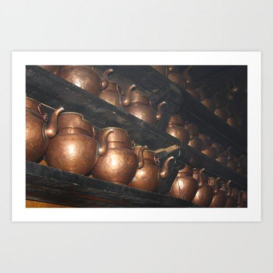 Copper Pitchers Art Print