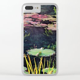 Lily Pads at Sunrise Clear iPhone Case