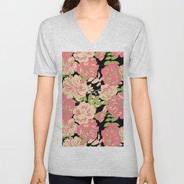 Big Wild roses Unisex V-Neck