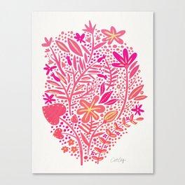 Garden – Pink Palette Canvas Print