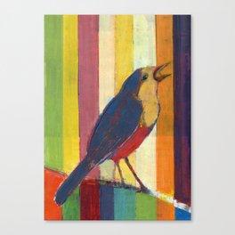 Caged Bird Singing Canvas Print