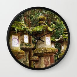 Nara Lanterns Wall Clock