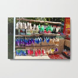 Peg Dolls Metal Print