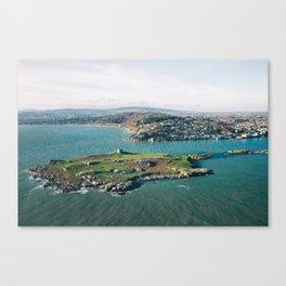 Aerial view of Dalkey Island Canvas Print