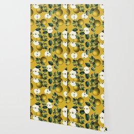 Vintage Fruit Pattern III Wallpaper