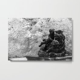 Lion in Distress Metal Print