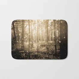 Vintage Sepia Fairy Forest Bath Mat