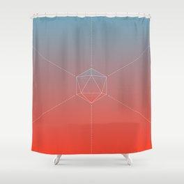 Icosahedral Sunrise Shower Curtain