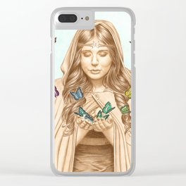 The Butterfly Girl Clear iPhone Case