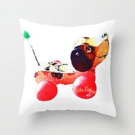 Seventies Retro Little Snoopy Dog Throw Pillow