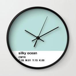 pantone colorblock cmyk blue Wall Clock