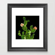weird cactus black version Framed Art Print