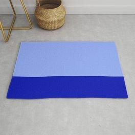 Royal Blue Color Block Rug