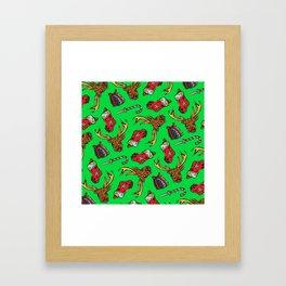 Merry Fucking Christmas Pattern Framed Art Print