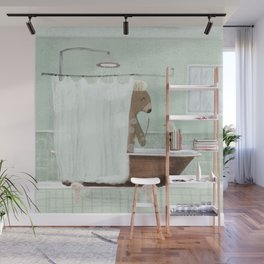 shower time Wall Mural