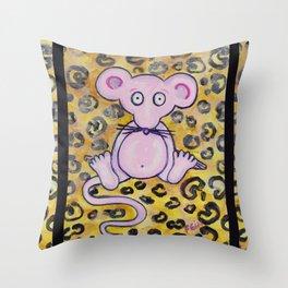 Wild Mouse Throw Pillow