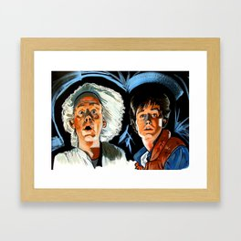 Doc and Marty. Framed Art Print