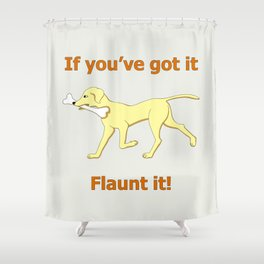 dog with bone Shower Curtain