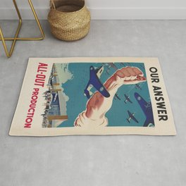 Vintage poster - All-Out Production Rug