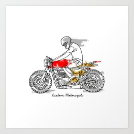 Custom Motorcycle Art Print