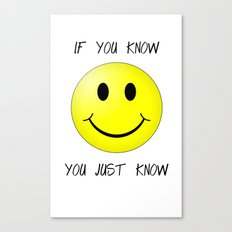 know face Canvas Print