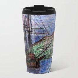 Tall Ship in the Moonlight Travel Mug