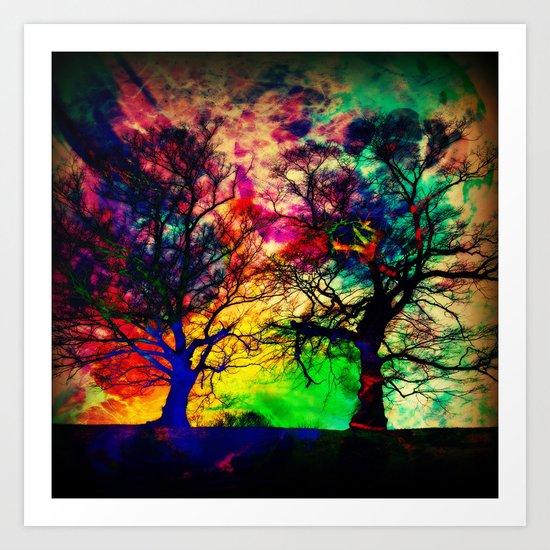 nebula twins Art Print
