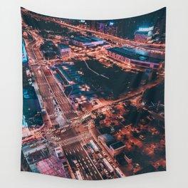 City night lights Wall Tapestry