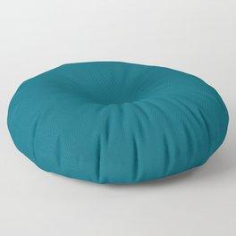 Sherwin Williams Trending Colors of 2019 Oceanside (Dark Aqua Blue) SW 6496 Solid Color Floor Pillow
