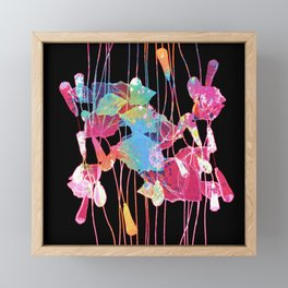 festive abstract bouquet with light Framed Mini Art Print