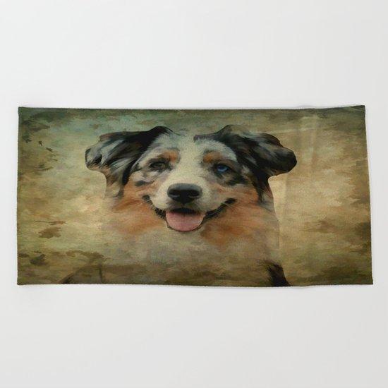 Australian Shepard - Aussie Beach Towel