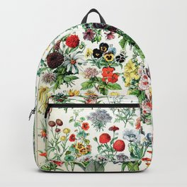 Adolphe Millot - Fleurs A - French vintage poster Backpack