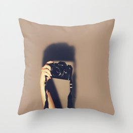 Taking pictures of you Throw Pillow