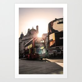 ArWork Bus Piccadily Sunset London ArtPhoto Art Art Print
