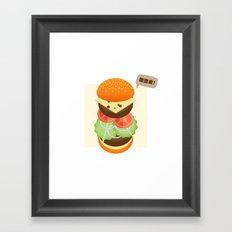 Burger please come to me Framed Art Print