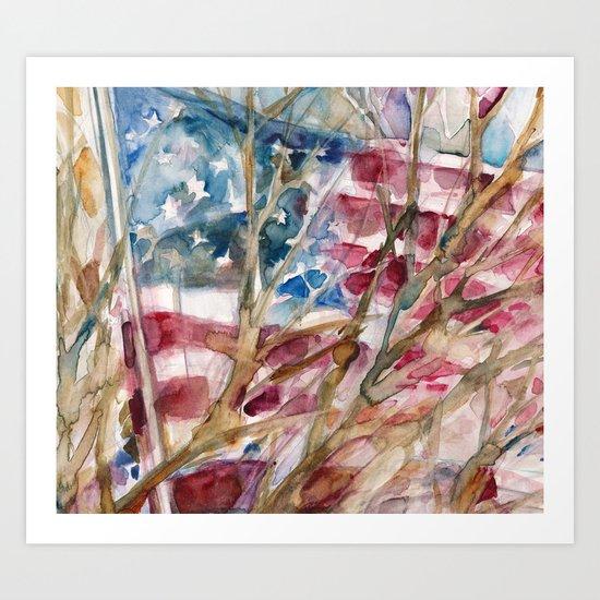 USA FLAG...VOTE Art Print